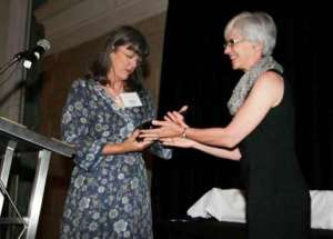 Me receiving my Hall of Fame Award from Donna Kehoe